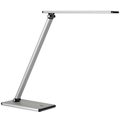 Lampada da tavolo a led UNILUX Terra grigio metallizzato 400077409