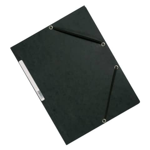 Cartellina a 3 lembi con elastico Q-Connect 24,3x32 cm cartoncino manilla 375 g/m² grigio - KF02169