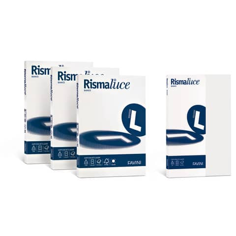 Carta per fotocopie A4 Favini Rismaluce Bianca 140 g/m² Risma da 200 fogli - A650204