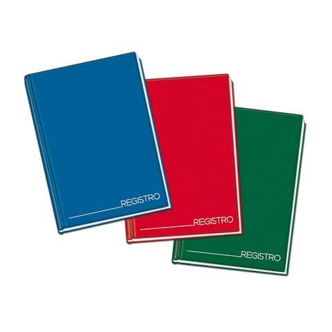 Registro cartonato Blasetti con cucitura filo refe - 96 ff 70 g/m² A4 - righe 1R 1342