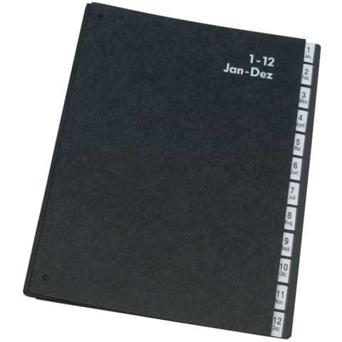 Pultordner  1-12 schwarz Produktbild