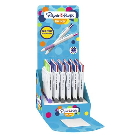 Penne a sfera a scatto Paper Mate InkJoy Quatro RT ULV 1,0 mm assortiti espositore da 36 pezzi - 1852278