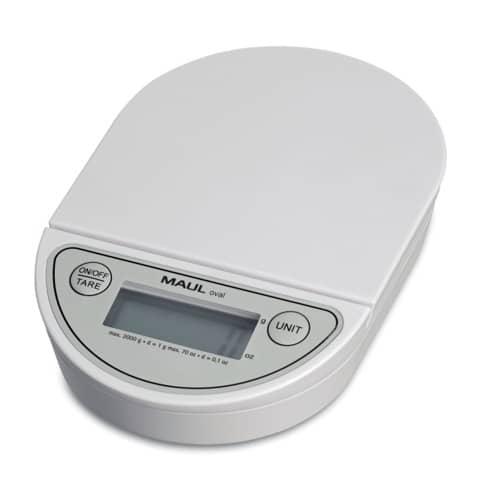Bilancia MAUL pesalettere MAULoval plastica infrangibile bianco 2000g 1622002