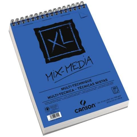 Album spiralato CANSON XL Mix Media bianco 300 g/m² 30 fogli A4 C200807215