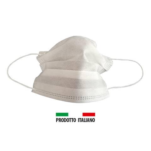 Mascherine chirurgiche monouso bianche Tipo II - Autorizzate dal Ministero della Salute - Conf. 50 pezzi - UNI 40 Immagine del prodotto Einzelbild 2 XL
