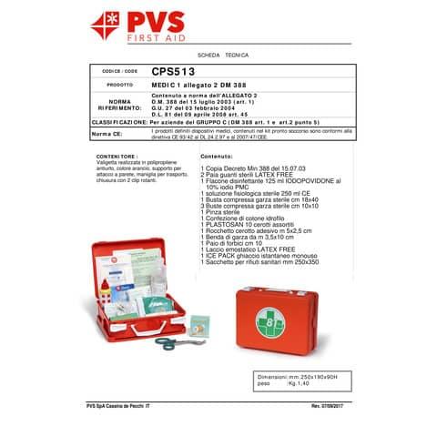 Valigetta Pronto Soccorso PVS arancio 2 persone - Dimensioni 25x19x9 cm cps513 Immagine del prodotto Produktdatenblatt XL