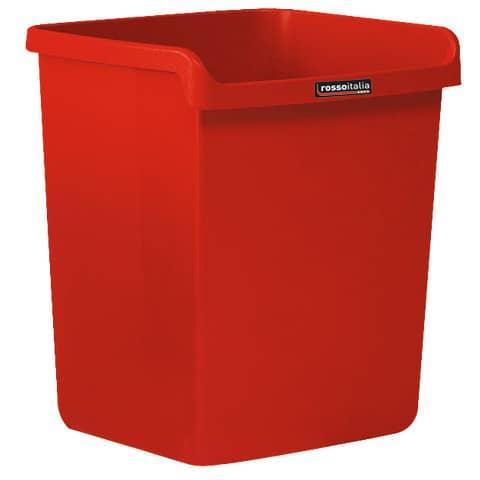 """Cestino impilabile ARDA """"Rosso Italia Collection"""" 15 litri polipropilene rosso rettangolare - 8116RIR"""