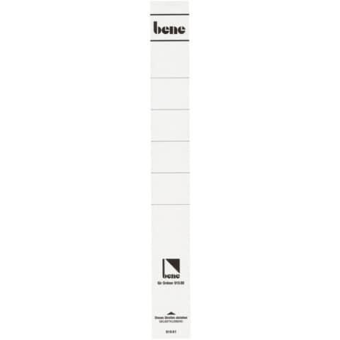 Rückenschild lang weiß Produktbild