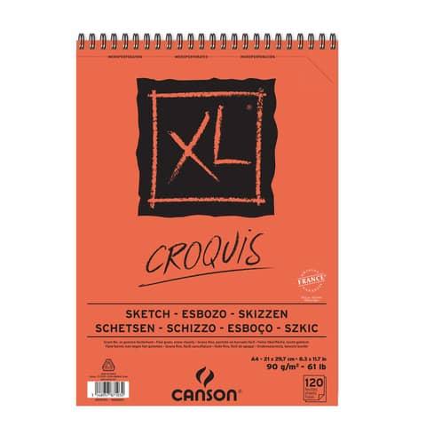 Album spiralato CANSON Schizzo XL bianco avorio 90 g/m² 120 fogli A4 C200787103