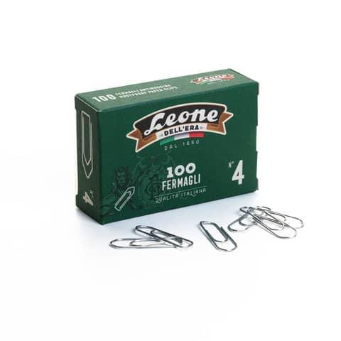Fermagli Leone in acciaio zincato N. 4 0,9x32 mm triangolari zinco brillante scatola da 100 pz. - FZ4
