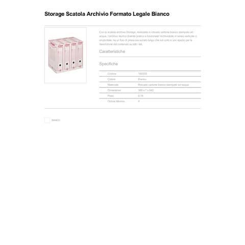 Scatola archivio King Mec Storage Legale 9x37x26 cm bianco 160200 Immagine del prodotto Produktdatenblatt XL