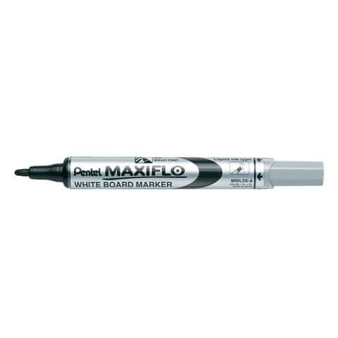 Marcatore per lavagne bianche Pentel MAXIFLO punta conica 4,0 mm nero MWL5S-A
