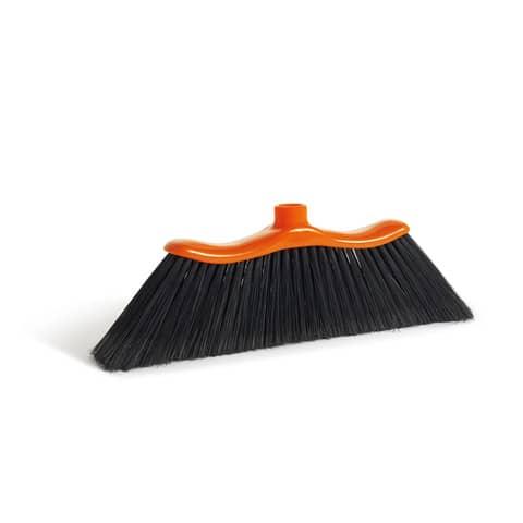 Scopa per interni ed esterni Onda Perfetto Factory 37x4x12 cm. coccia arancio / setole nere - 0050E
