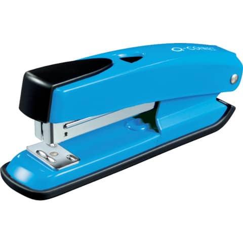 Cucitrice da tavolo Q-Connect metallo 20 ff blu profondita di cucitura 5,5 cm - KF02149