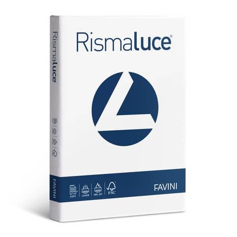 Carta per fotocopie A4 Favini Rismaluce Bianca 120 g/m² Risma da 250 fogli - A604204