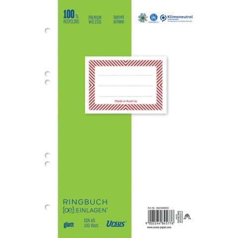Ringbucheinlage A5 100BL blanko Produktbild