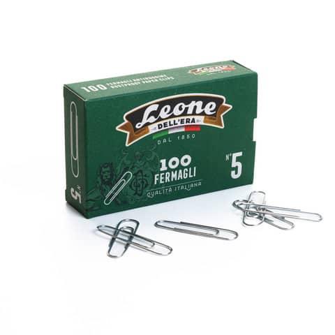 Fermagli Leone in acciaio zincato N. 5 1,1x49 mm rotondi zinco brillante scatola da 100 pz. - FZ5