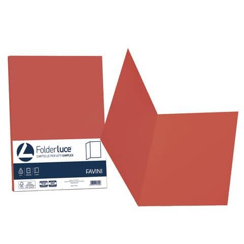 Cartellina semplice FAVINI FOLDER S cartoncino Simplex Luce&Acqua 200 g/m² 25x34cm scarlatto 61  conf.50 - A50C664