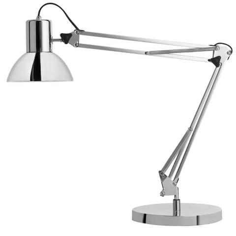 Lampada da tavolo UNILUX Success 80 grigio cromato 400092123