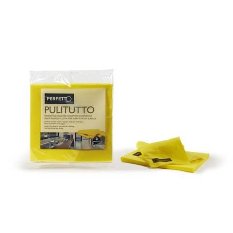 Panni multiuso Perfetto 40x38 cm giallo  Conf. 3 pezzi - 0264