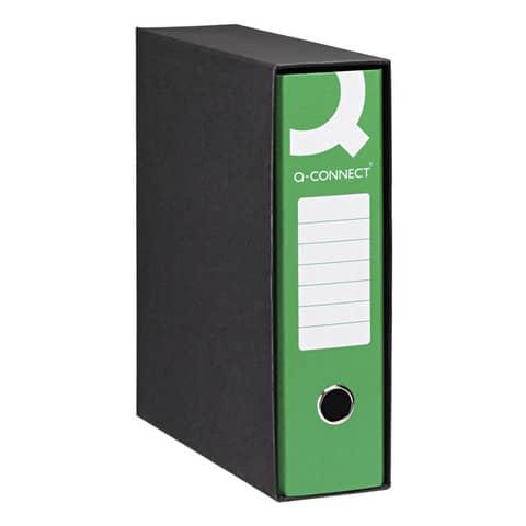 Registratore protocollo Q-Connect con custodia dorso 8 cm verde scuro 23x33 cm - 0201990/P.VE Immagine del prodotto