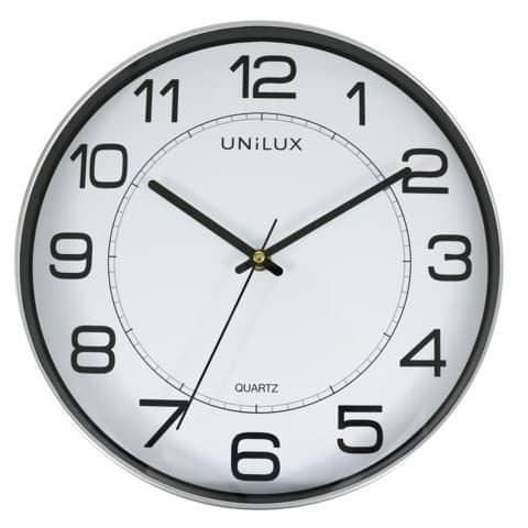 Orologio da parete magnetico al quarzo UNILUX Magnet Ø 30,5 cm grigio metallizzato - 400094406