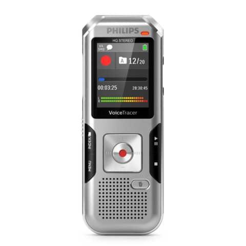Registratore vocale digitale PHILIPS argento DVT4010