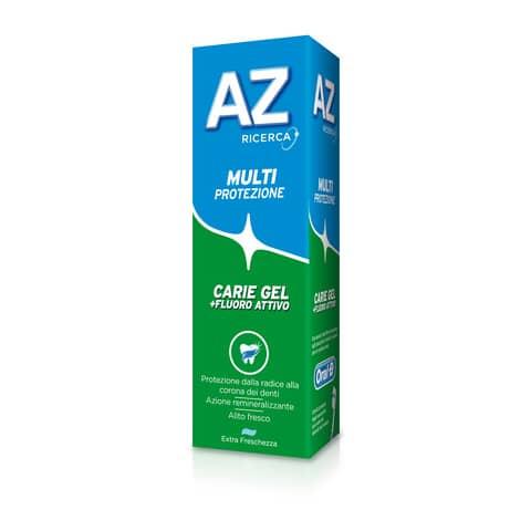 Dentifricio AZ Multiprotezione carie gel tubetto da 75 ml PG022