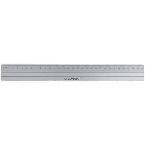 Righello in alluminio Q-Connect 30 cm argento E-10291 IA