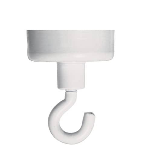 Hakenmagnet 10kg  weiß Produktbild