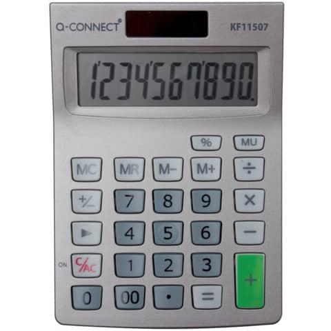 Calcolatrice solare da tavolo Q-Connect 10 cifre KF11507