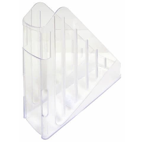 Portariviste ARDA Classic polistirolo antiurto cristallo 7,5x27x29,5 cm TR4118CR