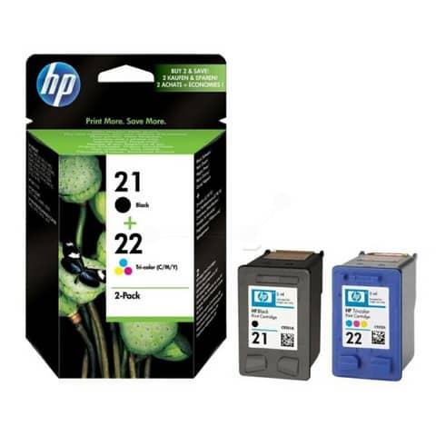 cartucce inkjet blister 21/22 HP nero +tricromia Conf. 2 - SD367AE