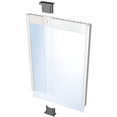 Targhe DURABLE INFO SIGN alluminio/acrilico trasparente/argento metallizzato 149x210,5 mm - 480323