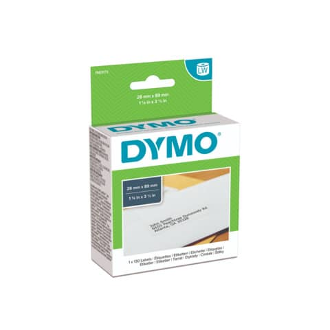 Rotolo da 130 etichette Dymo LabelWriter indirizzi std.  28x89 mm bianco 1983173