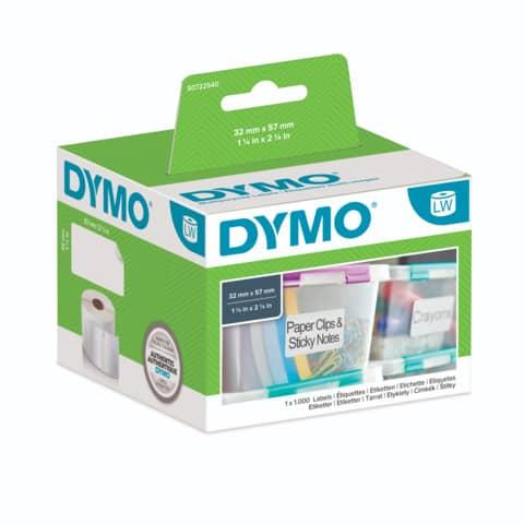 Rotolo da 1000 etichette Dymo LabelWriter multiuso 57x32 mm bianco S0722540