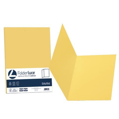Cartellina semplice Favini FOLDER S cartoncino Simplex Luce&Acqua 200 g/m² 25x34cm giallo 53 conf.50 - A50B664