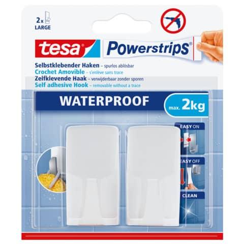 Powerstrips Haken wasserfest 2ST Produktbild