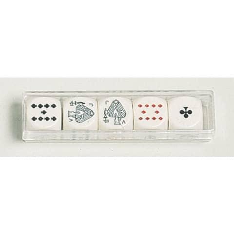Pokerwürfel 5 Stück Produktbild
