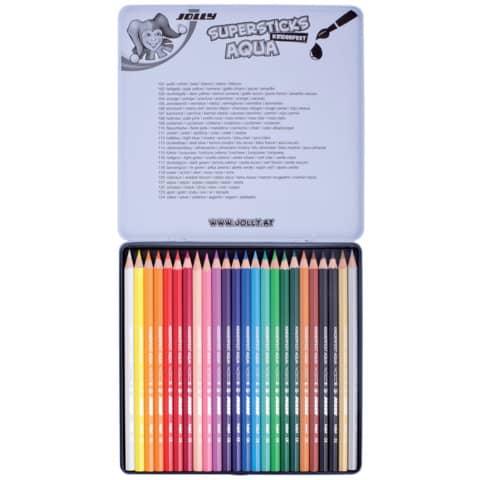 Farbstiftetui 24 Stück Aqua Produktbild