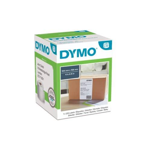 Rotolo da 220 etichette Dymo LabelWriter Ship XL 104x159mm bianco S0904980