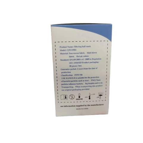 Mascherine monouso FFP2 bianche - Certificazione SGS CE0598 - Scatola da 20 pezzi, singolarmente imbustati Immagine del prodotto Einzelbild 5 XL