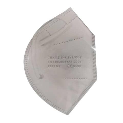 Mascherine monouso FFP2 bianche - Certificazione SGS CE0598 - Scatola da 20 pezzi, singolarmente imbustati Immagine del prodotto