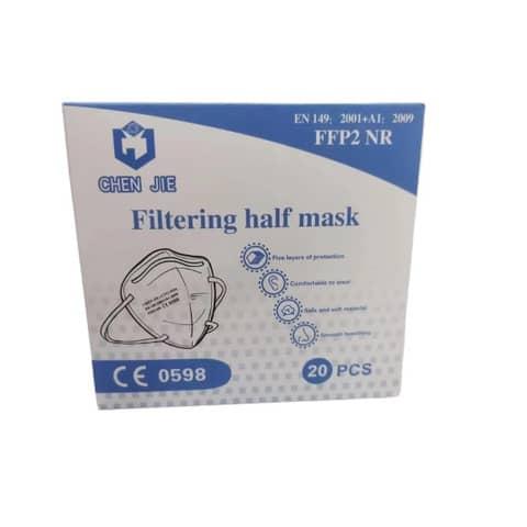 Mascherine monouso FFP2 bianche - Certificazione SGS CE0598 - Scatola da 20 pezzi, singolarmente imbustati Immagine del prodotto Einzelbild 2 XL