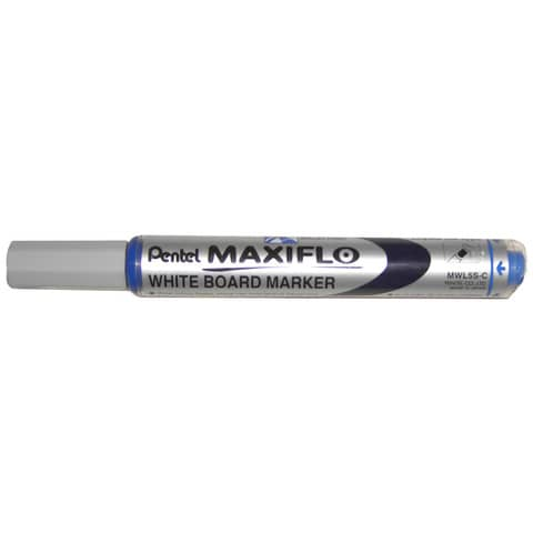 Marcatore per lavagne bianche Pentel MAXIFLO punta conica 4,0 mm blu MWL5S-C