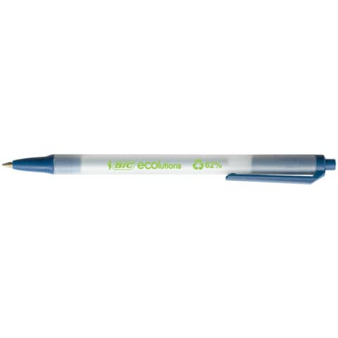 Penna ecologica a scatto BIC ECOlutions Clic Stic 1 mm blu 8806891