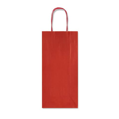 Sacchetto da regalo Rex-Sadoch Allegra tinta unita Dark 14x8,5x39 cm rosso conf. da 25 - SDF12-551