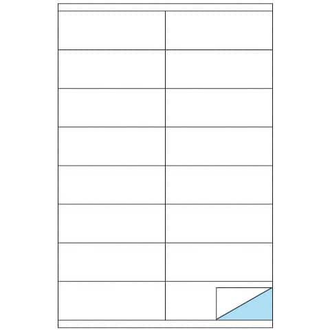 Etichette bianche MARKIN permanenti 105x36 mm con margine conf. da 1600 etichette - X210C501