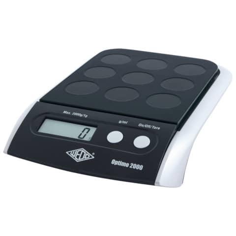 Bilancia pesalettere WEDO® Optimo 2000 elettronica nero 0482001