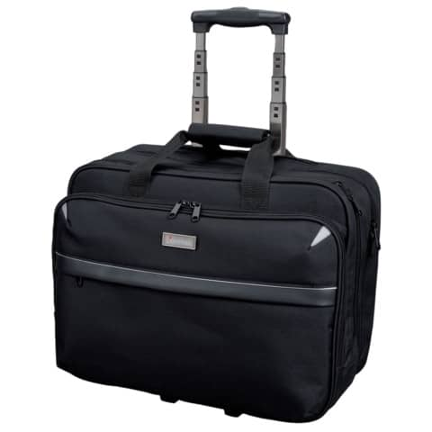 Trolley portacomputer Lightpak XRAY in poliestere 43x20x37 cm nero 46099